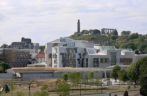 View of Scottish Parliament From Salisbury Crags