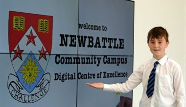 One of Newbattle High School's Digital Champions, Lewis Letchford. Photo credit: Rob Gray/Midlothian Council