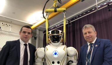 Robot at a Bayes visit in Jan 2020