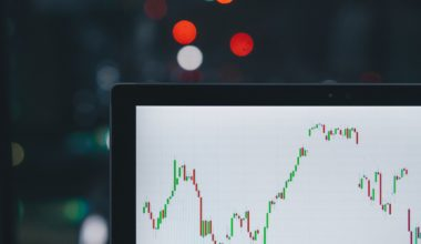 stocks and shares on computer