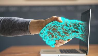 Handshake between human and computer screen