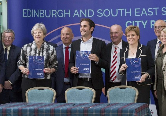Ministers signing the city region deal